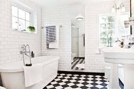 Black And White Bathroom Designs White Tiled Bathroom Inspiration Ideas Furniture