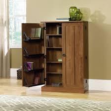 oak finish storage cabinet sauder august hill multimedia storage cabinet oiled oak finish