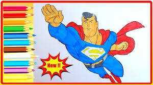 superman coloring pages for kids superman coloring book fun