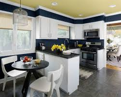 small u shaped kitchen with breakfast bar glass wall affordable