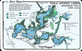 Map Of Kissimmee Tsala Apopka Lakes Inverness U0026 Hernando Pools Mark Evans Maps