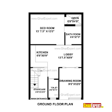 How Big Is 1100 Square Feet House Plan For 25 Feet By 40 Feet Plot Plot Size 111 Square Yards