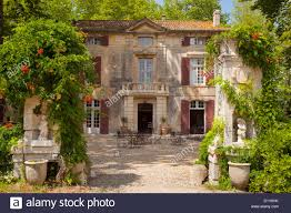 front entry to chateau roussan near saint remy de provence france