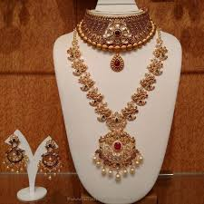 indian bridal jewelry necklace images Gold antique bridal jewellery sets from naj bridal jewellery jpg