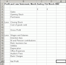 Profit And Loss Excel Template Free Profit And Loss Statement Template Free Excel Spreadsheet
