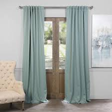 exclusive fabrics thermal insulated solid blackout 108 inch curtain panel pair