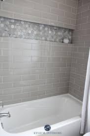 subway tile bathroom designs our bathroom remodel greige subway tile and more subway tile