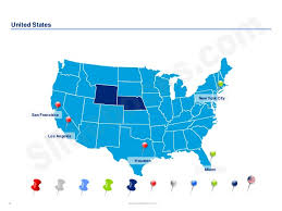 us map states los angeles united states maps and flags in powerpoint