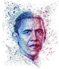 figurative figurative art here u0027s a portrait of president obama using numbers