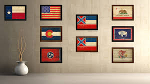mississippi state vintage flag canvas print with black picture