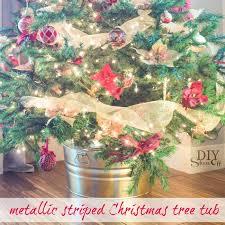 metallic striped tree tubdiy show diy decorating