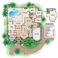 mediterranean house plan the expansive covered lanai has an