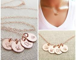14k Gold Initial Disc Necklace Classic Gold Initial Disc Necklace 14k Gold Filled Jewelry
