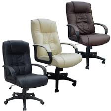 Swivel Chair Leather by Leather Office Chair Cream Swivel Office Chair