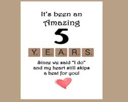 5th anniversary card etsy