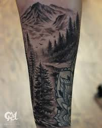black and gray forest tattoo half sleeve tattoo www