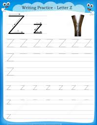 letter z is for zipper handwriting practice worksheet free