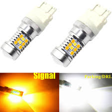 Led Lights Bulbs by Jdm Astar 2x 3157 Led Switchback Dual Color White Amber Turn