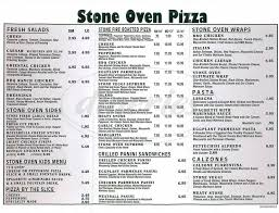 Simi Valley Map Stone Oven Pizza Menu Simi Valley Dineries
