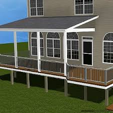 How To Cap A Hip Roof Trex Deck With Hip Roof And Grill Bump Out Amazing Decks