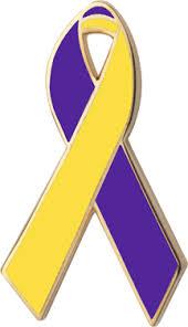 blue and yellow ribbon purple and yellow awareness ribbons lapel pins