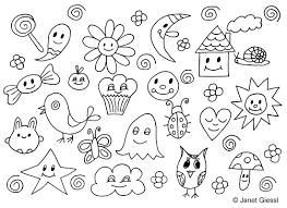 doodle coloring page free download