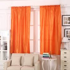 ouneed 1 pcs pure color silk door window curtain drape panel sheer