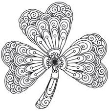 shamrock coloring pages for adults 87 best st patrick day craft
