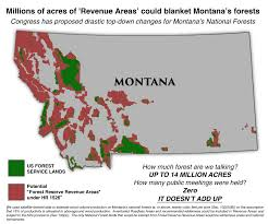 A Map Of Montana by H R 1526 Steve Daines Montana Forests Access Hunting Montana