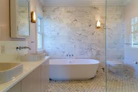 bathroom accents ideas bathroom with marble accent wall transitional regarding walls in
