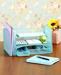 Wire Mesh Desk Organizer Green Wire Mesh Desktop File Organizer Paper Storage 3 Drawers