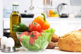 healthy foods are on the table in the kitchen stock photo picture