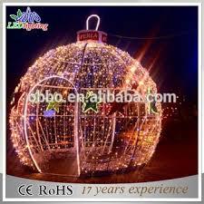 decorative led 3d motif light large outdoor balls lights