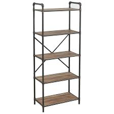 etagere metal 17 stories 5 tier metal pipe etagere bookcase reviews wayfair