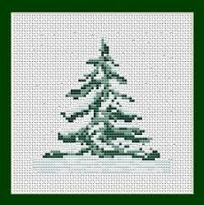 free cross stitch patterns tree mini