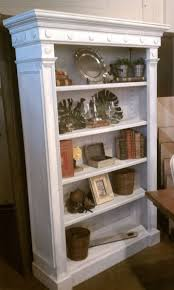 furniture white corner distressed bookcase distressed bookcase