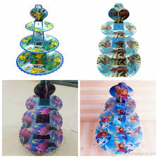 frozen party supplies moana trolls poke frozen party cake stand cupcake holder