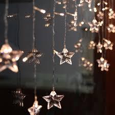 2 1m 104pcs led curtain star string lights christmas new year