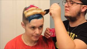 dying my hair the trans flag colours youtube