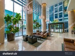 modern lobby hallway plaza luxury hotel imagen de archivo stock