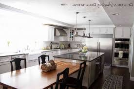 Kitchen Island With Attached Table Kitchen Island With Table Attached Kitchen Table Gallery 2017