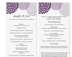 Wedding Program Templates Free Download 13 Best Photos Of Printable Birthday Party Program Template