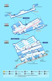 Map Of Los Angeles Airports Los Angeles Airport Map Facility Information Ana