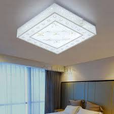 Square Ceiling Light Fixture by Square Shape Acrylic Shade Modern Led Ceiling Lights