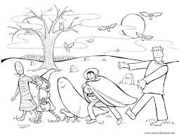 spooky coloring pages scary halloween page in omeletta me