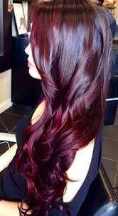 coke blowout hairstyle dark chocolate cherry coke balayage by erik lindström at voltage
