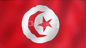 Flag With Red Circle Tunisia Waving Flag Detail Lizenzfreie Stock Videos Und Clips