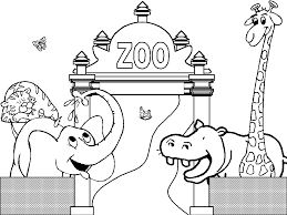nonsensical zoo animal coloring pages tiger preschool coloring