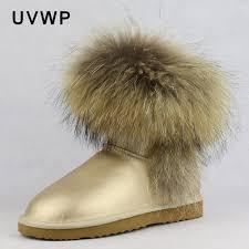 womens boots 100 top fashion 2017 s fox fur boots 100 genuine