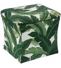 elton storage ottoman banana palm